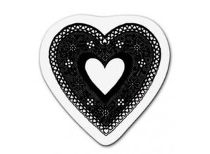Cart-Us Transparent stamp: Lace heart