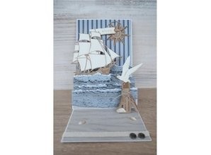 Marianne Design Punching and embossing template: Ship