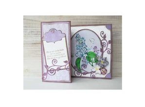Marianne Design Punching and embossing template: Swirl and leaves