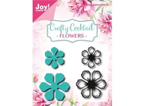 Joy!Crafts und JM Creation Stamping and embossing stencil + stamp: Flowers