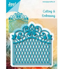 Joy!Crafts und JM Creation Punching and embossing template: decorative frame Vintage Goal