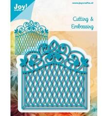 Joy!Crafts und JM Creation Stansning og prægning skabelon: dekorativ ramme Vintage Goal