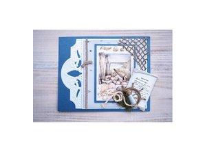 Marianne Design Troquelado y estampado en relieve plantilla: Cuerdas