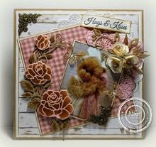 Marianne Design Marianne Design, stampaggio e goffratura stencil, craftabili - Rose Corner