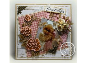 Marianne Design Marianne Design, stamping and embossing stencil, Craftables - Rose Corner
