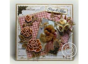 Marianne Design Marianne Design, stempling og prægning stencil, Craftables - Rose Corner