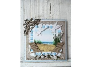 Marianne Design Punching and embossing template: Deckchair