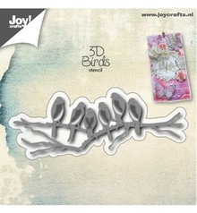 Joy!Crafts und JM Creation Punching and embossing template: NEW! 3D birds on branch