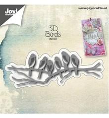 Joy!Crafts und JM Creation Stansning og prægning skabelon: NYHED! 3D fugle på gren