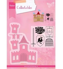 Marianne Design Stamping and embossing stencil + stamp designs: Ritterburg