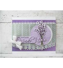 Marianne Design Punching and embossing template: Heart border and lace border
