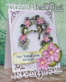 Heartfelt Creations aus USA ESCLUSIVO HEARTFELT dagli Stati Uniti! Imposta di bollo: Sbattere le palpebre della rana