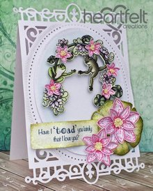 Heartfelt Creations aus USA EXCLUSIVE HEARTFELT from the USA! Stamp Set: Winking Frog