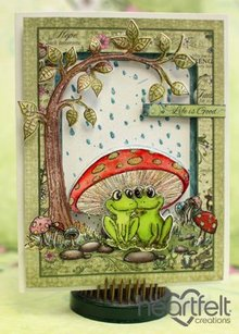 Heartfelt Creations aus USA EXCLUSIVE HEARTFELT from the USA! Stamp Set: Flirting Frogs
