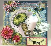Heartfelt Creations aus USA EXCLUSIVO HEARTFELT de los EE.UU.! Conjunto de sellos: Froggy Hangout