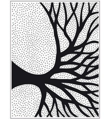 embossing Präge Folder Prägefolder Silhouette Baum