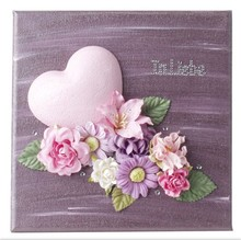 Objekten zum Dekorieren / objects for decorating 1 styrofoam heart 9cm