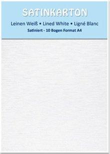 DESIGNER BLÖCKE  / DESIGNER PAPER Satinkarton, beidseitig satiniert, Leinen weiß