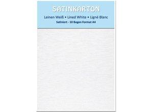 DESIGNER BLÖCKE  / DESIGNER PAPER Satin cardboard, both sides satin, linen white