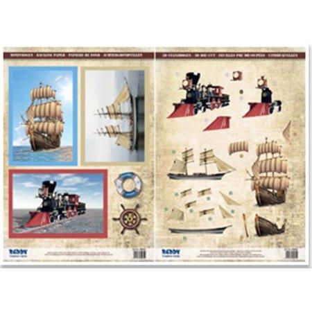 BILDER / PICTURES: Studio Light, Staf Wesenbeek, Willem Haenraets 2 Segelschiffe und 1 Dampflock