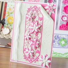 TONIC Punching and embossing template: Entwining Trellis - Radiant Roselily