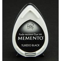 las gotas de rocío MEMENTO sello de tinta InkPad Tuxedo Negro