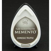 gocce di rugiada MEMENTO timbro a inchiostro Inkpad Espresso Tartufo
