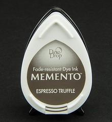 FARBE / INK / CHALKS ... gocce di rugiada MEMENTO timbro a inchiostro Inkpad Espresso Tartufo