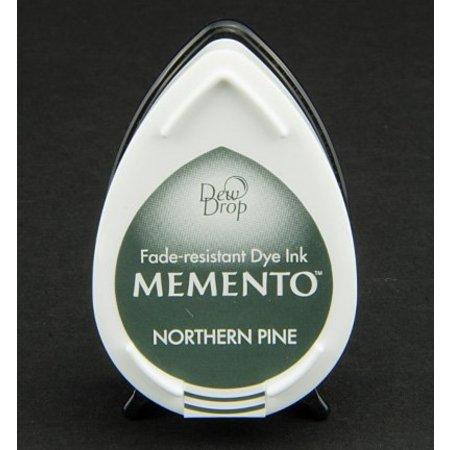 FARBE / INK / CHALKS ... gocce di rugiada MEMENTO timbro a inchiostro InkPad-Potters Northern Pine
