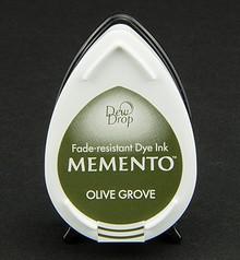 FARBE / INK / CHALKS ... gocce di rugiada MEMENTO timbro a inchiostro InkPad Olive Grov