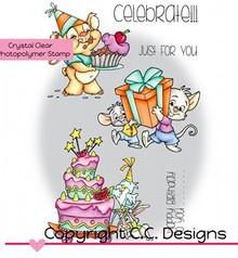 C.C.Designs Transparent Stempel, Roberto's Rascals Celebrate