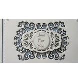 Creative Expressions Troquelado y estampado en relieve plantilla: marco decorativo + Label