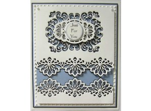 Creative Expressions Punching and embossing template: decorative frame + Label