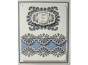 Creative Expressions Stansning og prægning skabelon: dekorativ ramme + Label