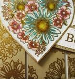 Creative Expressions Gummistempel, Heart of Blossoms