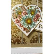 Gummistempel, Heart of Blossoms