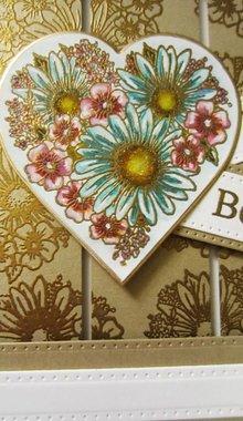 Creative Expressions Timbro di gomma, Cuore di fiori