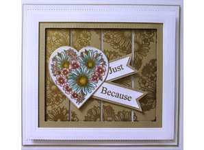 Creative Expressions Rubber stamp, Heart of Blossoms