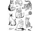 Viva Dekor und My paperworld Gennemsigtige frimærker, katte