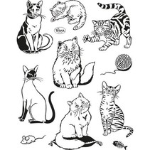 sellos transparentes, gatos