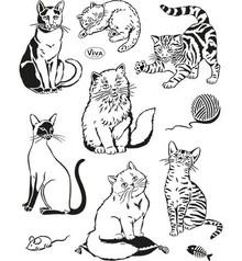 Viva Dekor und My paperworld Transparent Stempel, Katzen