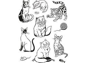 Viva Dekor und My paperworld Transparent stamps, cats