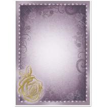 """5 arc deco-box """"Rose"""", sølv / guld-lamineret i 5 farver!"""