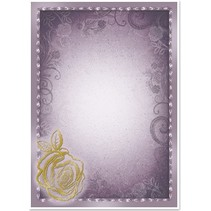 "5 Bogen Deko-Karton ""Rose"", silber/gold-laminiert in 5 Farbe!"