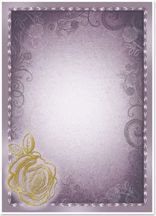 "DESIGNER BLÖCKE  / DESIGNER PAPER 5 arc deco-box ""Rose"", silver / gold-laminated in 5 color!"