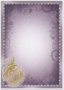 "DESIGNER BLÖCKE  / DESIGNER PAPER 5 Bogen Deko-Karton ""Rose"", silber/gold-laminiert in 5 Farbe!"