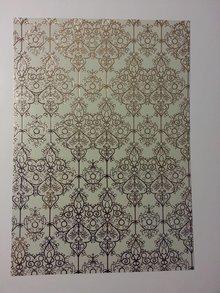 "DESIGNER BLÖCKE  / DESIGNER PAPER lamineret guld 1 bue deco-box ""barok"""