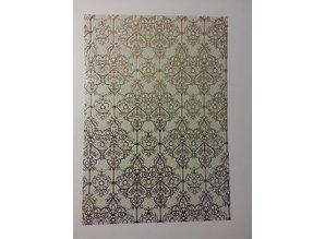 """DESIGNER BLÖCKE  / DESIGNER PAPER 1 Bogen Deko-Karton """"Barock"""", gold-laminiert"""