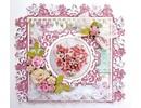Joy!Crafts und JM Creation Stansning og prægning skabelon: Border med blomster