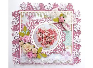 Joy!Crafts und JM Creation Stansning og prægning skabelon: Border med blomster